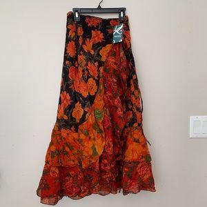 Artisan True Wrap Ruffle Skirt